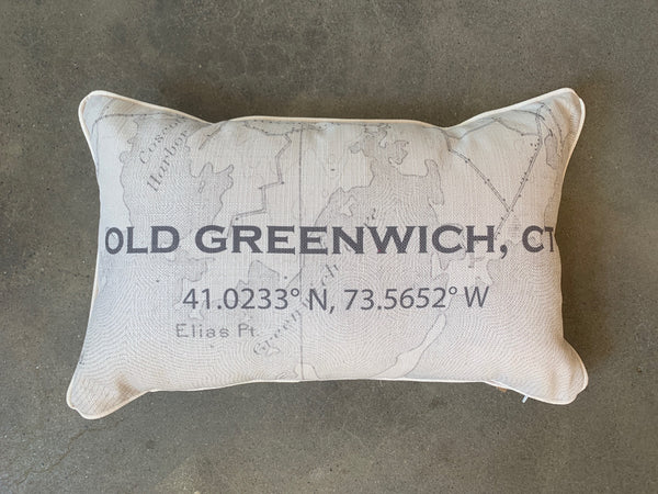 Greenwich Coordinate Pillow