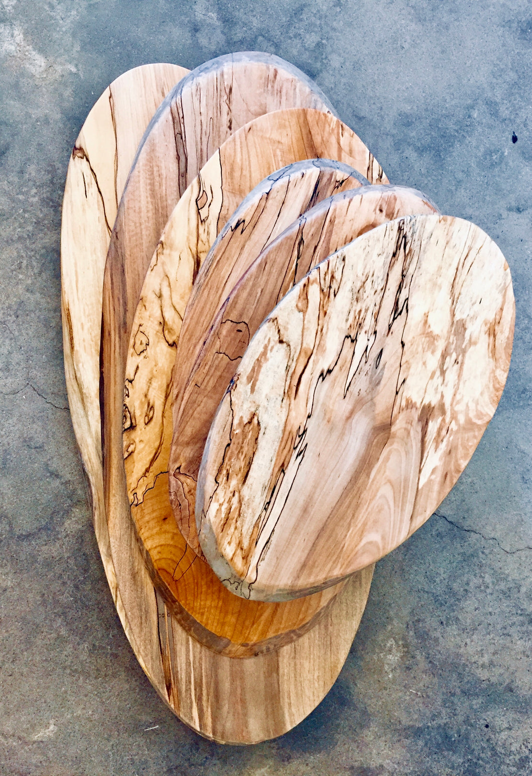 Oval Spalted Maple Serving Board