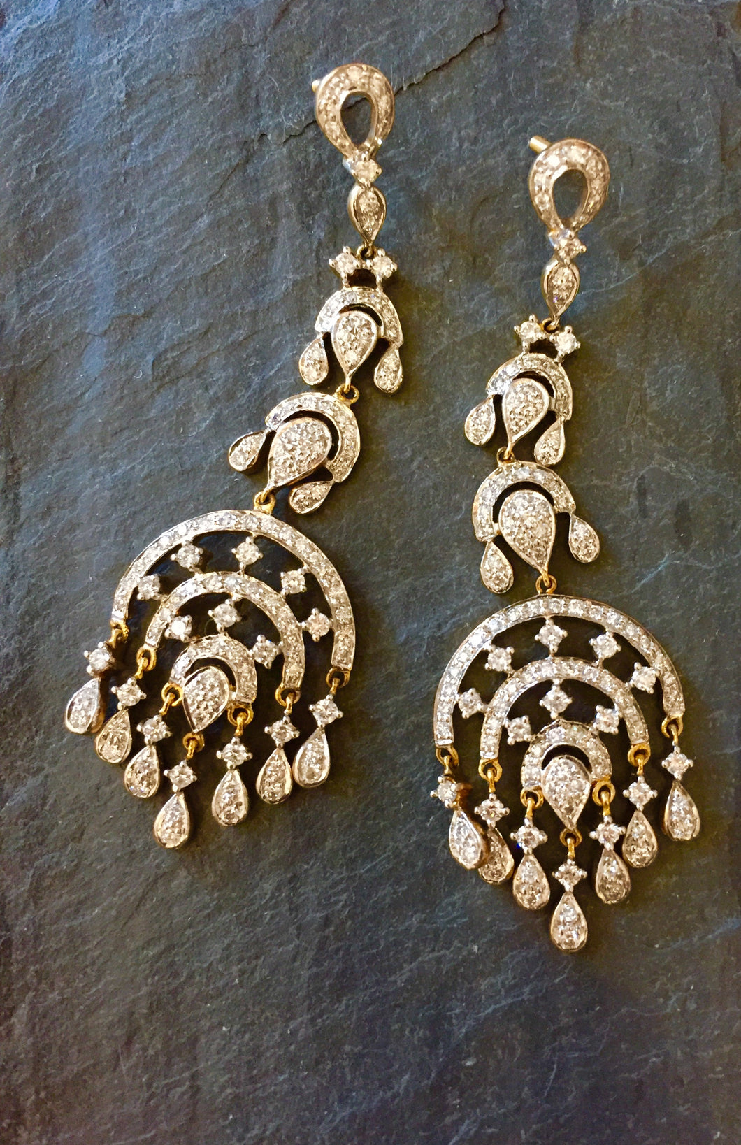 Chandelier 18K Gold Earrings