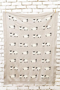 Sheep Knitted Baby Blanket