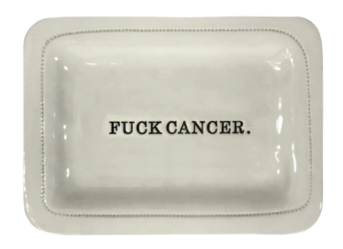 Fuck Cancer Porcelain Handmade Dishes
