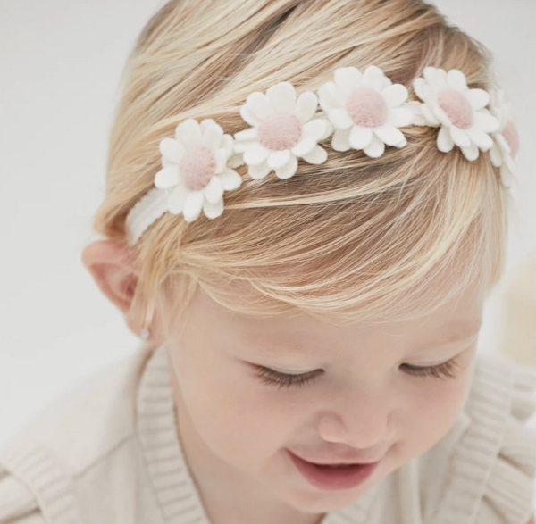 Cream Flower Crown Felt Headband