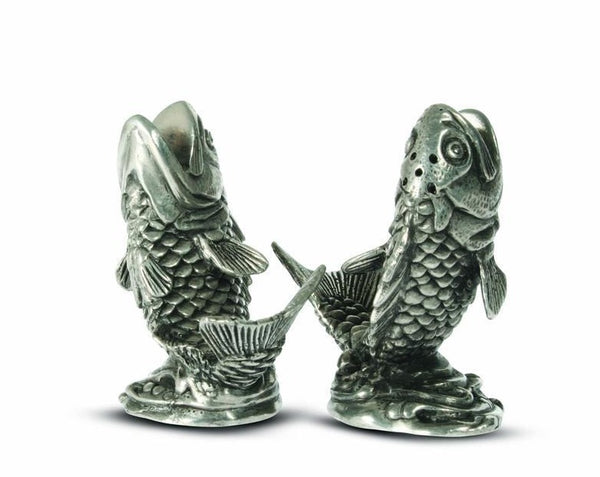 Salmon Salt and Pepper Shakers