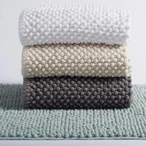 Pebbled Chenille Bath Rug