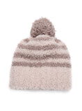Striped Cozy Pom Pom Beanie