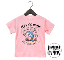 Load image into Gallery viewer, Let's Go Hunt Baby Shark Easter T-Shirt - Mary Evans