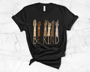 Be Kind Sign Language Shirt  - Graphic Tee
