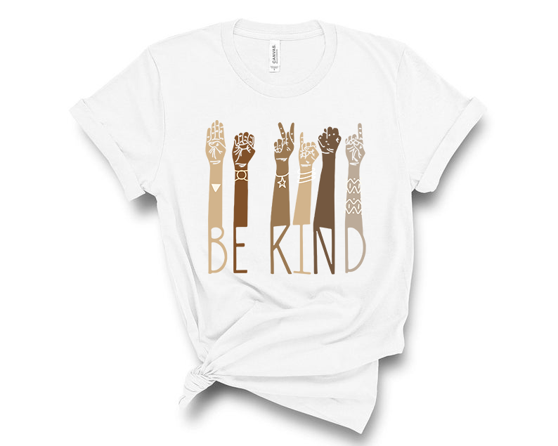 Be Kind American Sign Language Shirt - Graphic Tee ~ Toddler & Youth Sizing