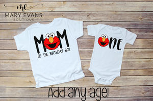 Sesame Street Elmo Birthday Family Shirts