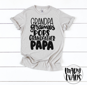 Grandpa, Gramps, Pops, Grandfather, Papa Shirt, Father's Day Gift