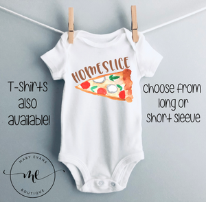 Home Slice Funny Pizza Bodysuit