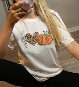 Peace, Love, & Fall - Halloween Graphic Tee