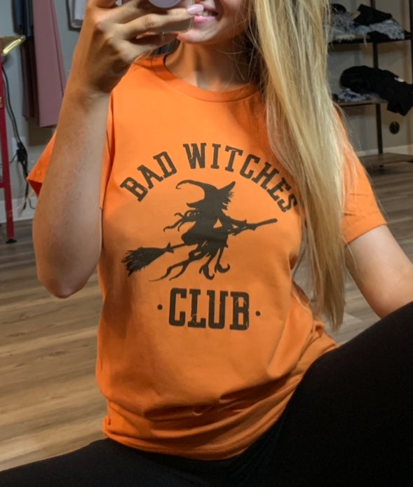 Bad Witches Club - Halloween Graphic Tee