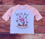 Let's Go Hunt Baby Shark Easter Raglan Shirt