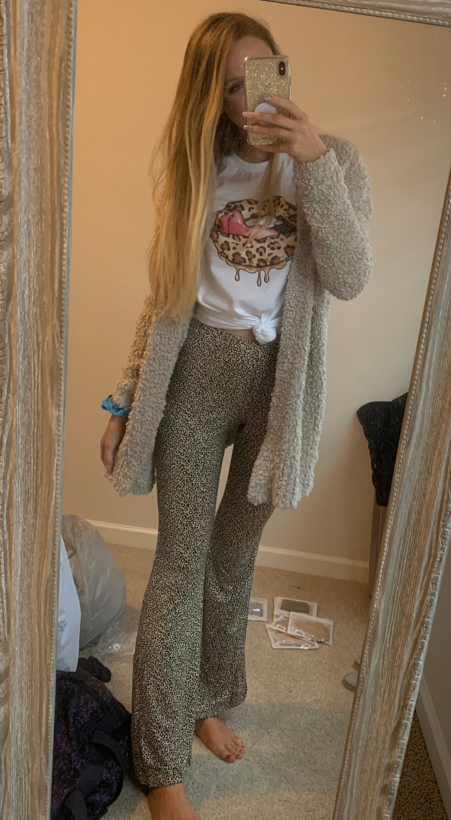 Cheetah Flare Pants