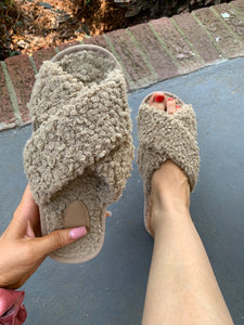 Cozy Criss Cross Slippers