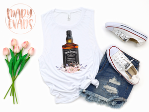 Jack Daniels Whiskey Shirt, Graphic Summer Tank - Mary Evans
