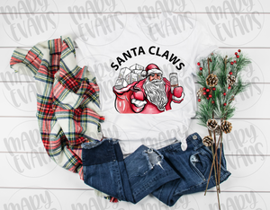 Santa Claws Shirt - Funny Christmas Unisex Shirt - Mary Evans
