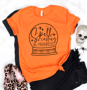 Spell Casting In Progress - Halloween Graphic Tee