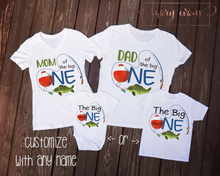 Load image into Gallery viewer, Fishing Birthday Family Shirts Set, O-Fish-Ally One - Mary Evans