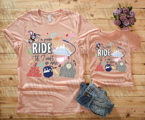 I'm Gonna Ride Til I Can't No More Disney Shirt - Adult - Mary Evans