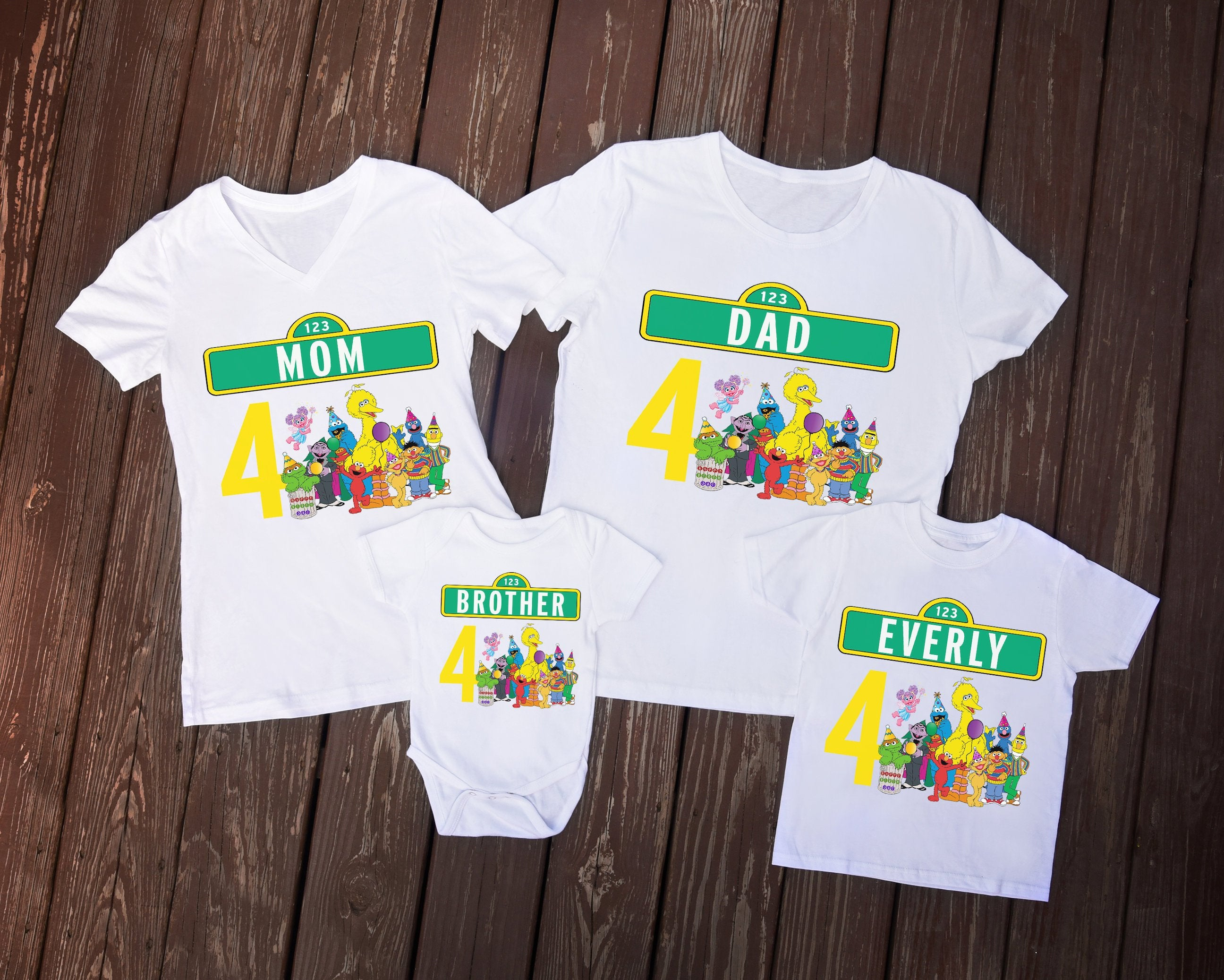Sesame Street Family Birthday Shirts