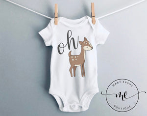 Oh Deer Woodland Bodysuit - Mary Evans