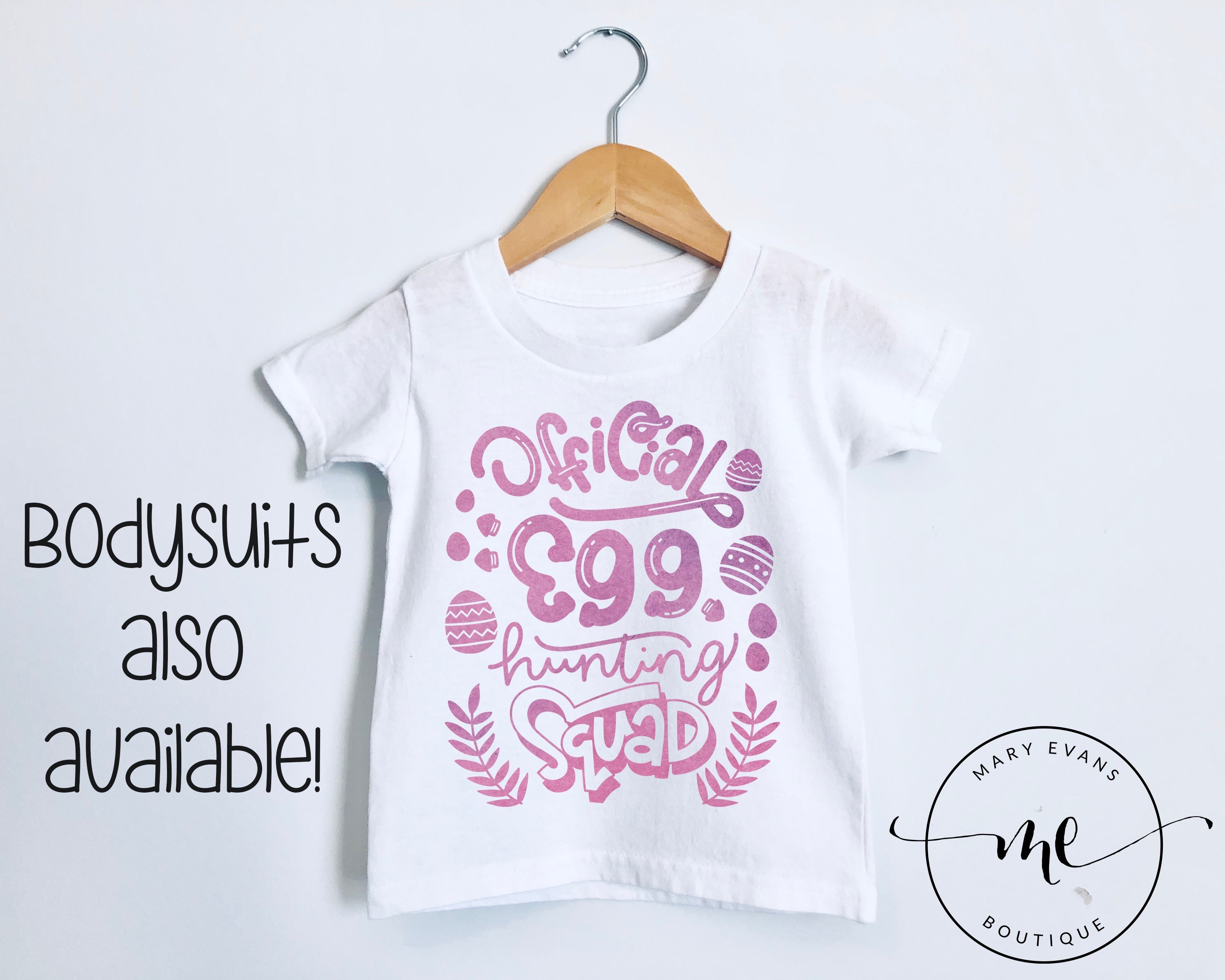 Official Egg Hunting Squad Girls Easter T-Shirt or Bodysuit