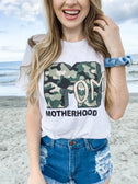 Camo Distressed Mom Shirt  - Graphic Tee