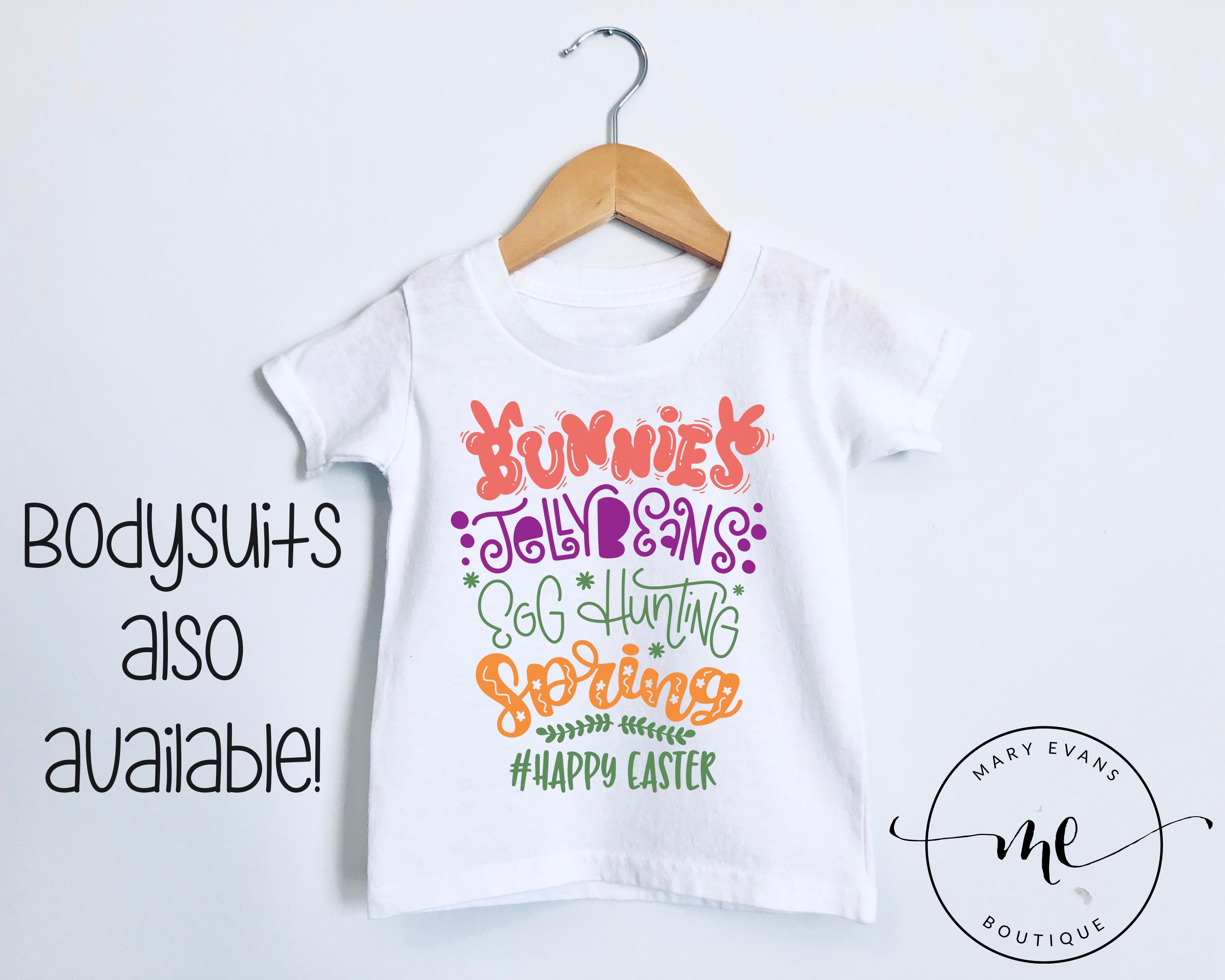Bunnies Jellybeans Egg Hunting Spring Easter T-Shirt or Bodysuit