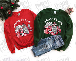 Santa Claws - Graphic Christmas Sweatshirt