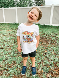 Summer Baby Yoda Kids Shirt - Graphic Tee ~ Infant, Toddler, & Youth Sizing