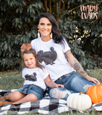 Leopard & Gold Turkey - Thanksgiving Graphic Tee