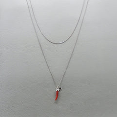 Ngb Jewels - Coral Horn Long Necklace