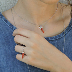 Ngb Jewels - Coral Horn Ring