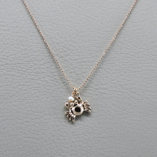 Crab Necklace | Rose Gold