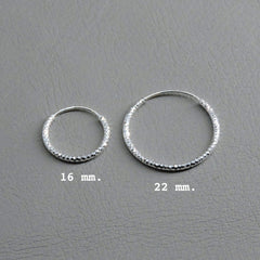 Ngb Jewels - Diamond Cut Hoop Earrings