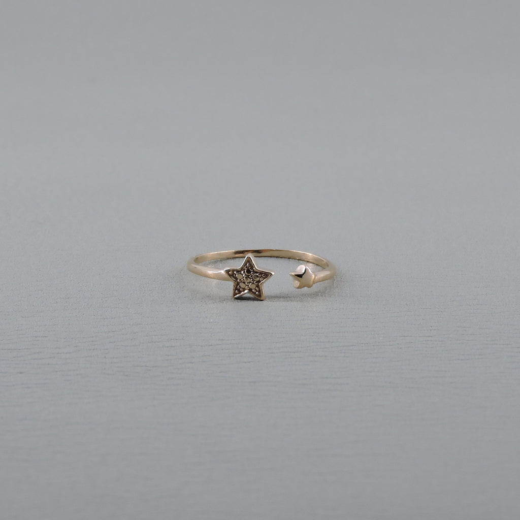 Ngb Jewels - Silver Stars Open Ring
