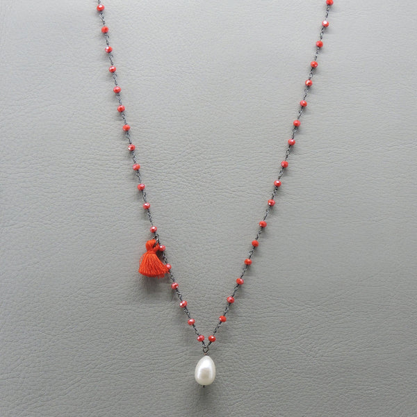 Winter Vibes Necklace | Red