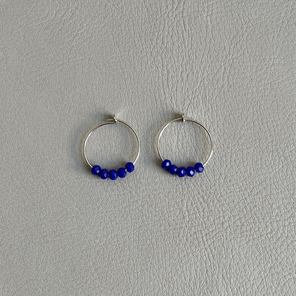 Ngb Jewels - Blue Wire Earrings
