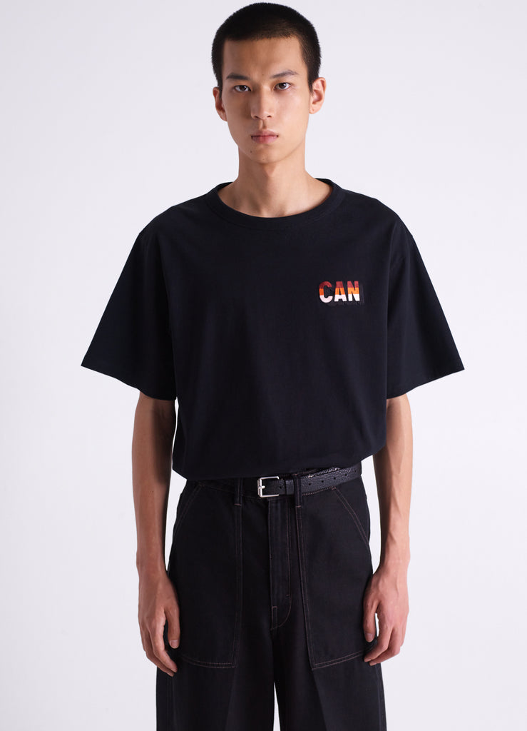 EMBROIDRED PATCH T-SHIRT
