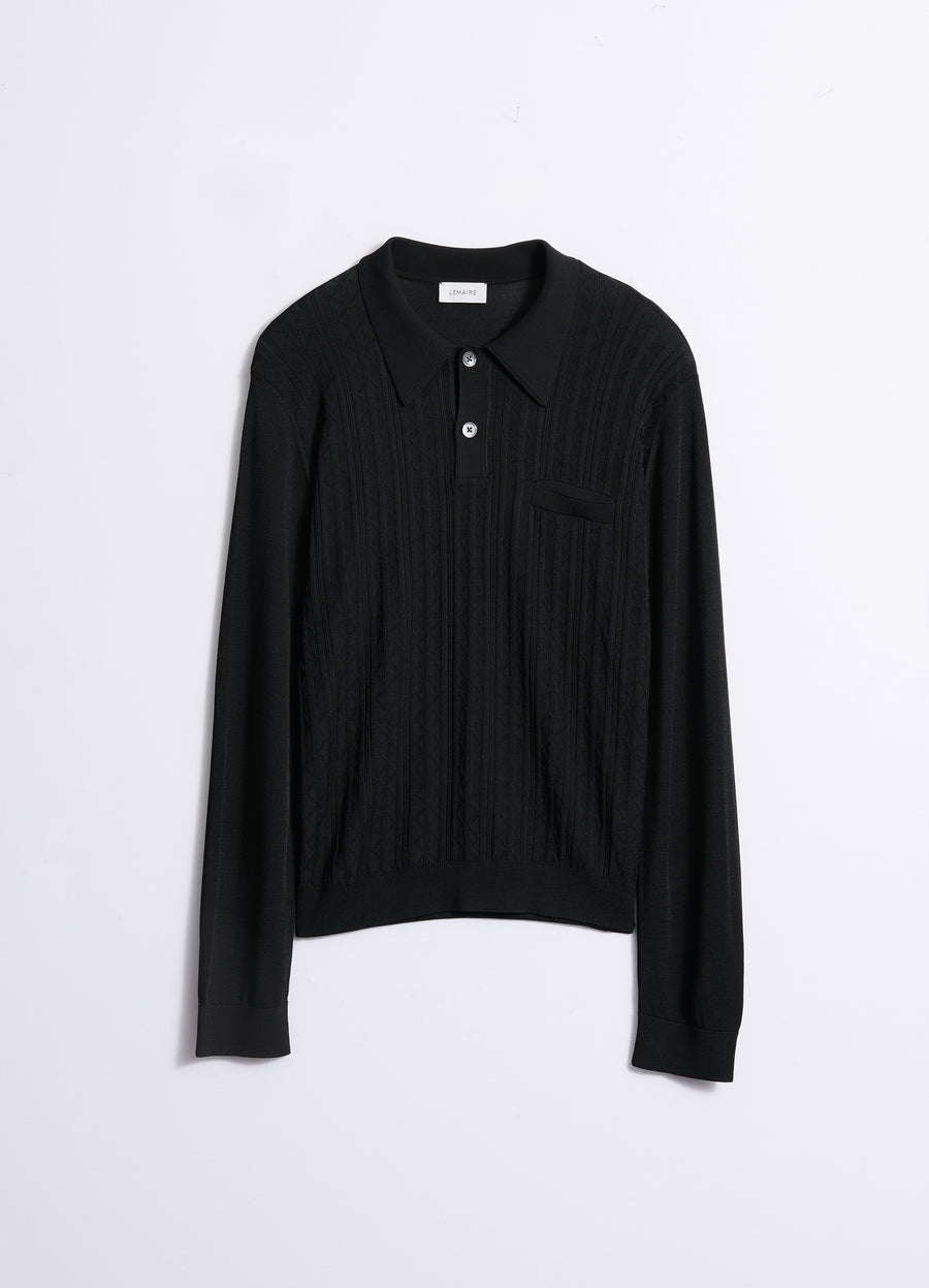 LONG SLEEVES KNITTED POLO