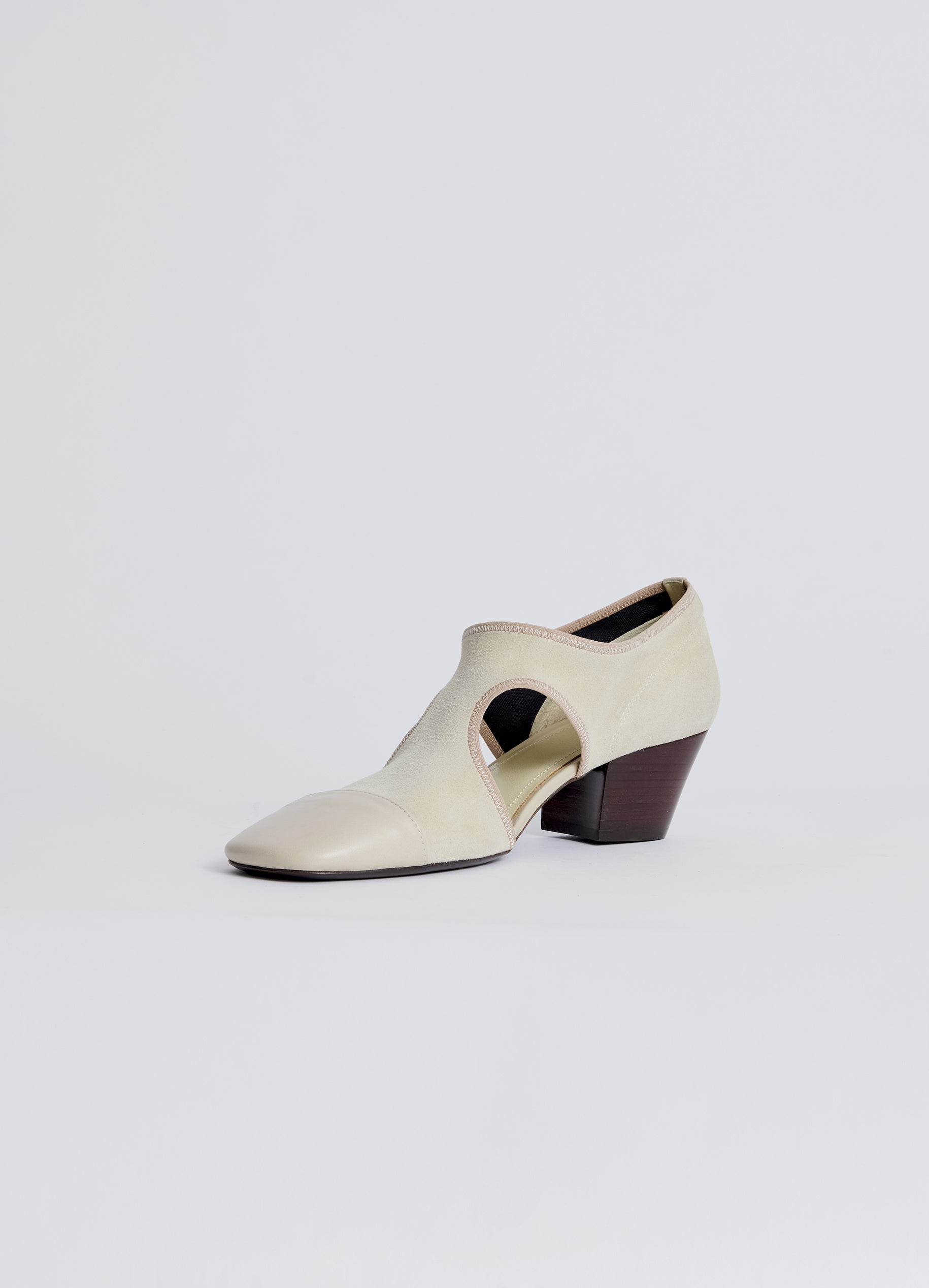HEELED BALLERINA SHOES