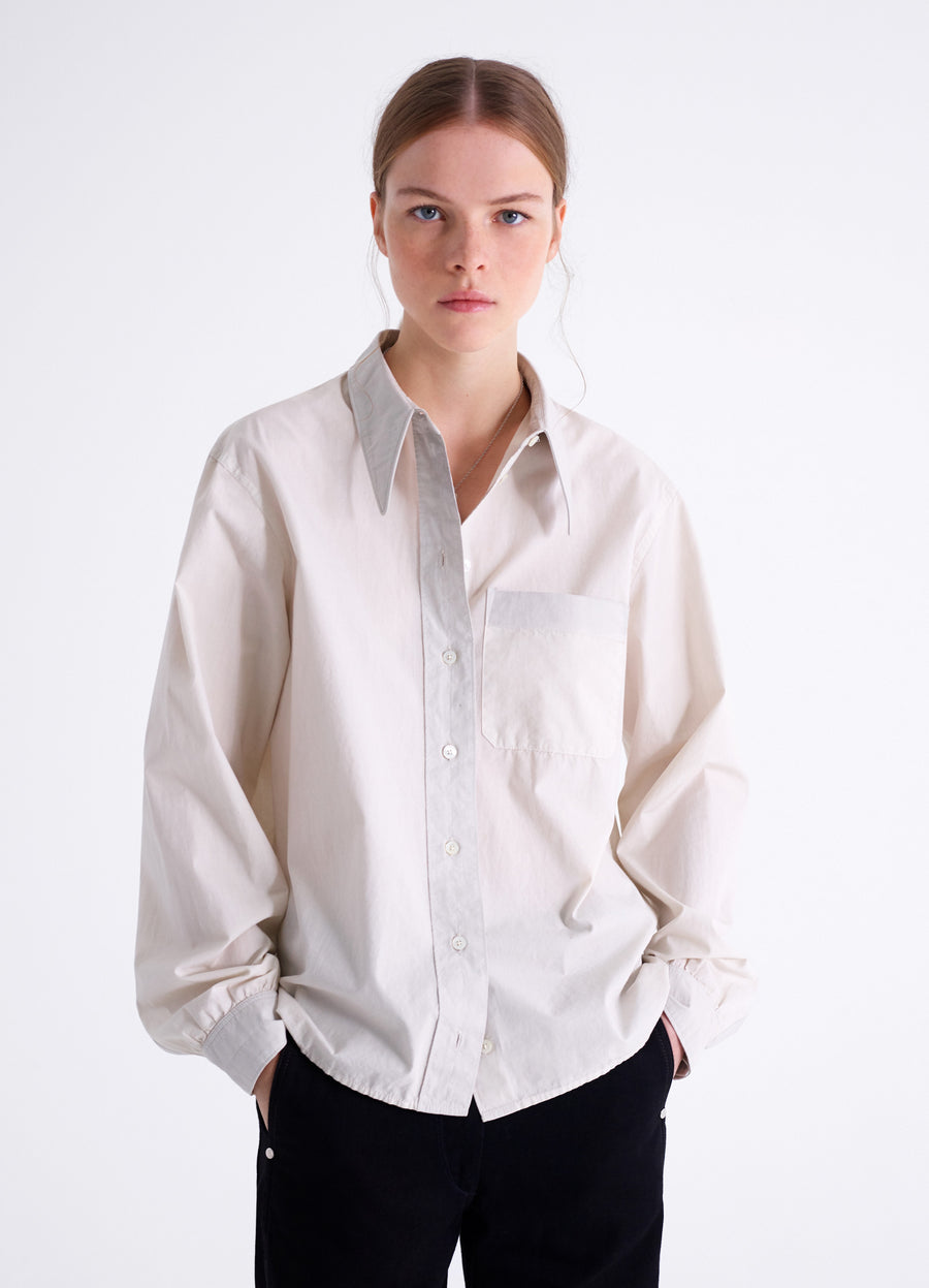POINTED COLLAR SHIRT