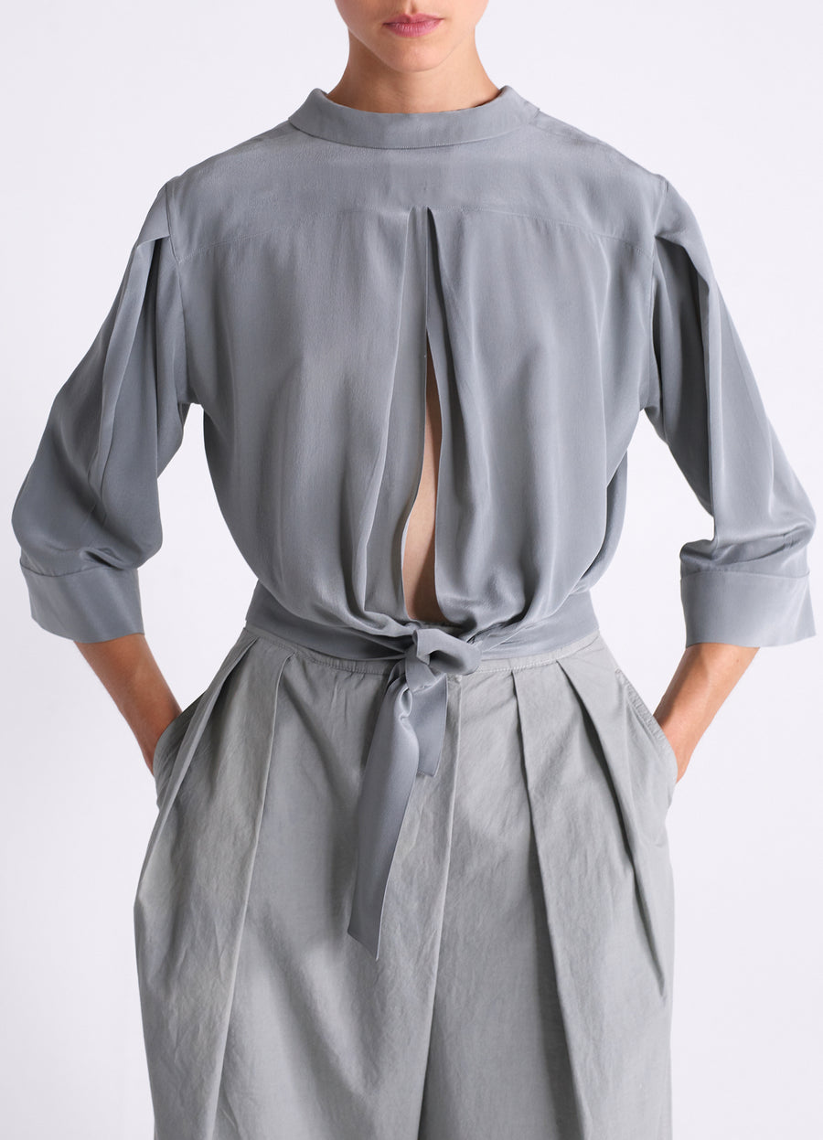 SHIRT WITH PLEATS