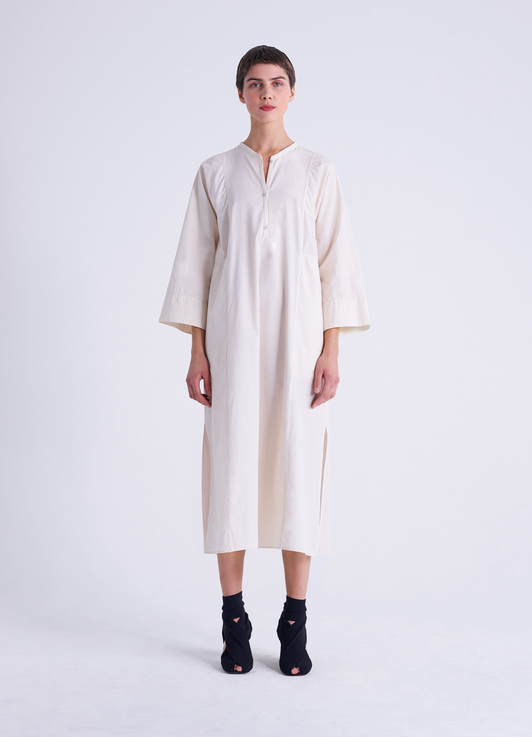 HENLEY SHIRT DRESS