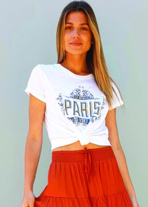Spicy Sugar - Paris Sequin Embellished Tee