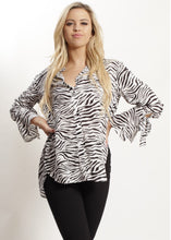 Spicy Sugar - Zebra Print Blouse