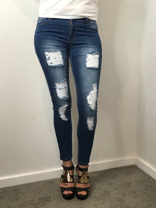 Wakee - High Waisted Distressed Denim Jeans - Dilux Designs