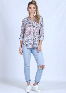 Spicy Sugar - Snow Leopard Blouse